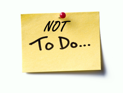 Image result for Make a not-to-do list